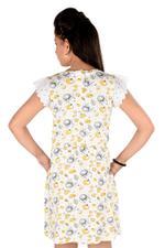Paw Patrol Girls Printed Dress, Yellow/White-HWGLPP122
