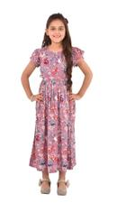 Flower Girl Girls Printed Maxi Dress,Multi -KFGS201557P5