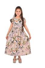 Flower Girl Girls Printed Maxi Dress,Multi -KFGS201557P3