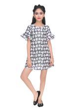 Disney Princess Girls Woven Dress, Charcoal-HWGL1P63