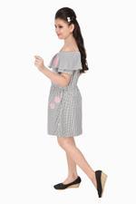 Flower Girl Girls Printed Dress ,Multicolor-MCG832