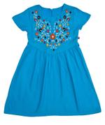 Flower Girl Girls Solid Dress , Turquoise - KFGSS201518