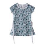 Flower Girl Girls Dress,White&Green,SIMGS20GFR015