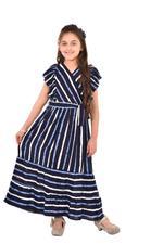 Flower Girl Girls Printed Dress , Black - KFGS201529P1