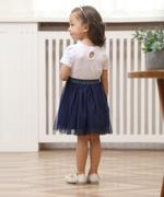 Smart Baby Baby Girl Party Dress , White/Navy - GEGS21DG8009