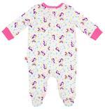 Fisher Price Baby Girl Dungaree Set , Pink/White-NCGNCW9