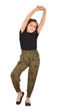 Flower Girl Girls Printed Harem Pants,Black/Green - KFGS201580P5