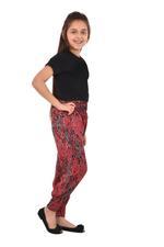 Flower Girl Girls Printed Harem Pants,Red/Black- KFGS201580P4