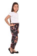 Nexgen Girls Girl Printed Harem Pants,Black- KFGS201579P2