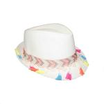 Le Crystal Girls Hat,Off White,FMGST7-OW