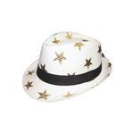 Le Crystal Girls Fedora Hat,White,FMGST4-W