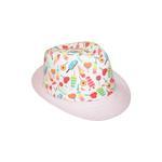 Le Crystal Girls Printed Fedora Hat, Pink,FMGST2-P