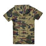 Nexgen Juniors Boys Hooded T-Shirt , Olive-SSG17162