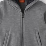 Nexgen Juniors Boys Hoodie Jacket,Grey Melange -VCGW20067COL4