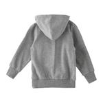 Zebra Crossing Girls Hoodie Jacket,Grey Millange -VCG044COL3