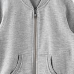 Zebra Crossing Girls Full Sleeves Jacket,Grey Millange -VCG045COL3
