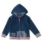 Nexgen Girls Girl Hooded Jacket , Denim Blue - MCGAW209063