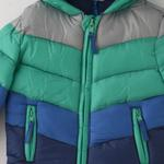 Lily And Jack Baby Boy Panelled Jacket , Green/Navy - JCGS19650