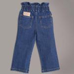 Little Kangaroos Baby Girls Paperbag Denim Pants,Dark Blue-ROGSS2121923A