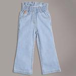Little Kangaroos Girls Paperbag Denim Pants,Ice Blue-ROGSS21PL2179E