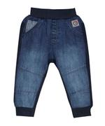 Little Kangaroos Baby Boy Denim Jog Pants , Dark Blue - ROGS2018292A
