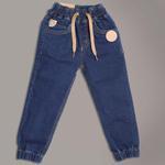 Little Kangaroos Boys Denim Jogger Pants, Blue-ROGSS21PL2134A