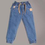 Little Kangaroos Boys Denim Jogger Pants,Light Blue-ROGSS21PL2134C