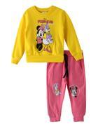 Minnie & Daisy Girls Sweatshirt With Jogger Set,Yellow/Pink-TCGLAW2114310