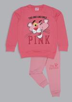 Pink Panther Girls Sweatshirt With Jogger Set,Pink/Peach-TCGLAW2114335