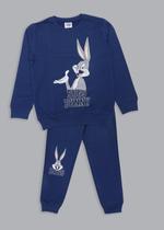 Looney Tunes Girls Sweatshirt With Jogger Set,Navy Blue-TCGLAW2114332