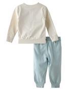 Frozen Girls Sweatshirt With Jogger Set,White/Sea Green-TCGLAW2114313