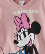 Minnie Mouse Girls Sweatshirt With Jogger Set,Peach/Black-TCGLAW2114308