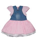 Little Kangaroos Baby Girl Top With Jumper Set , Denim/Pink - ROGS2019808A