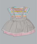 Little Kangaroos Baby Girls T-shirt With Jumper Set , Grey/Multi - ROGS2019811A