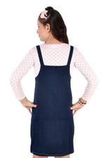 Genius Girls Knit Tee With Jumper,White/Denim Blue-MCG1223