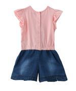 Smart Baby Baby Girl Jumpsuit , Peach/Denim - MCGSS201880