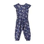 Flower Girl Girls Printed Jumpsuit,Navy - KFGS201577P4