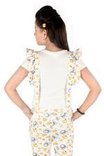 Paw Patrol Girls Printed Jumpsuit, Yellow/White-HWGLPP120