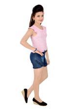Flower Girl Girls Stylish Jumpsuit, Pink/Blue-MCG372G19