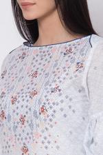 Biba Cotton Straight Kurta, White,BG15963WHT