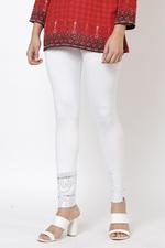 Biba Women Viscose & Lycra Leggings,White,BG15896WHT/S