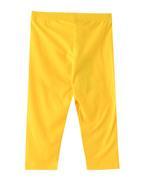 Flower Girl Girls Capri Legging , Yellow - VCGB2193COL10