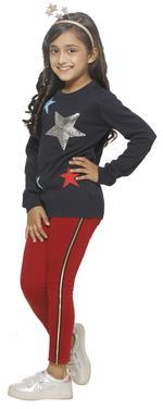 Nexgen Girls Girls Fashion Leggings , Maroon - VCGSS21105