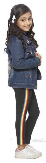 Nexgen Girls Girls Fashion Leggings , Black - VCGSS21108