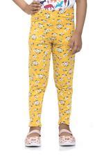 Nexgen Girls Girls Printed Leggings , Vibrant Yellow - VCGSS21154