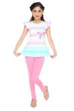 Genius Girls Tunic Dress With Legging Set , Multi/Pink - MCGSS218350