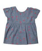Mini Moi Baby Girls Top With Legging-Denim Blue/Coral,JCGS21R18201