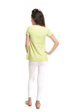 Genius Girls Tunic Top With Legging Set,Yellow/White-MCGSS218420