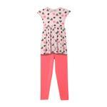 Genius Girls Dress With Legging Set , Pink - HDGLSS212203