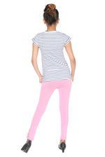 Genius Girls T-shirt With Legging Set , White/Pink - MCGSS218040